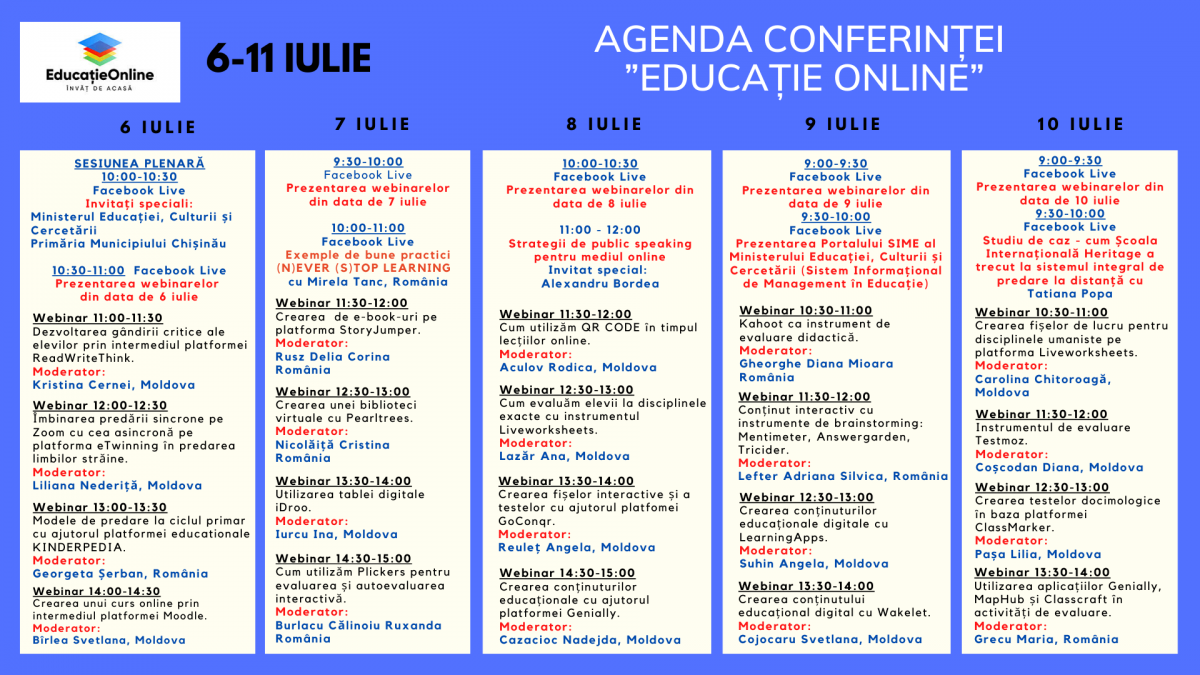 """Conferința Națională """"Educație Online"""""""